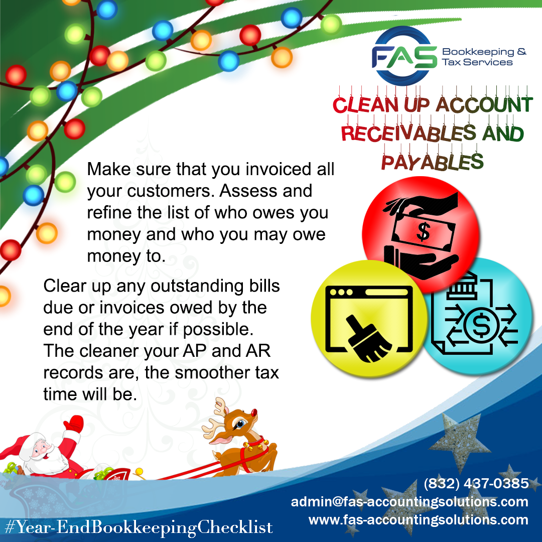 Clean Up Account Receivables and Payables