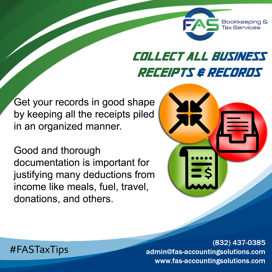 Collect All Business Receipts & Records