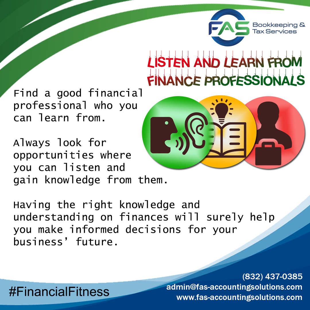 Listen and Learn from Finance Professionals Professionals