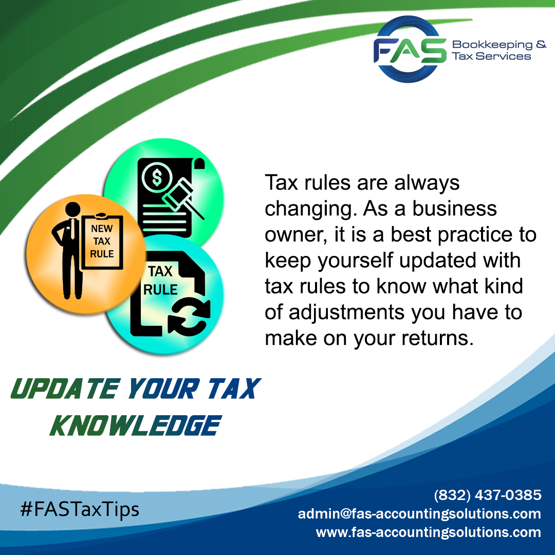 Update Your Tax Knowledge