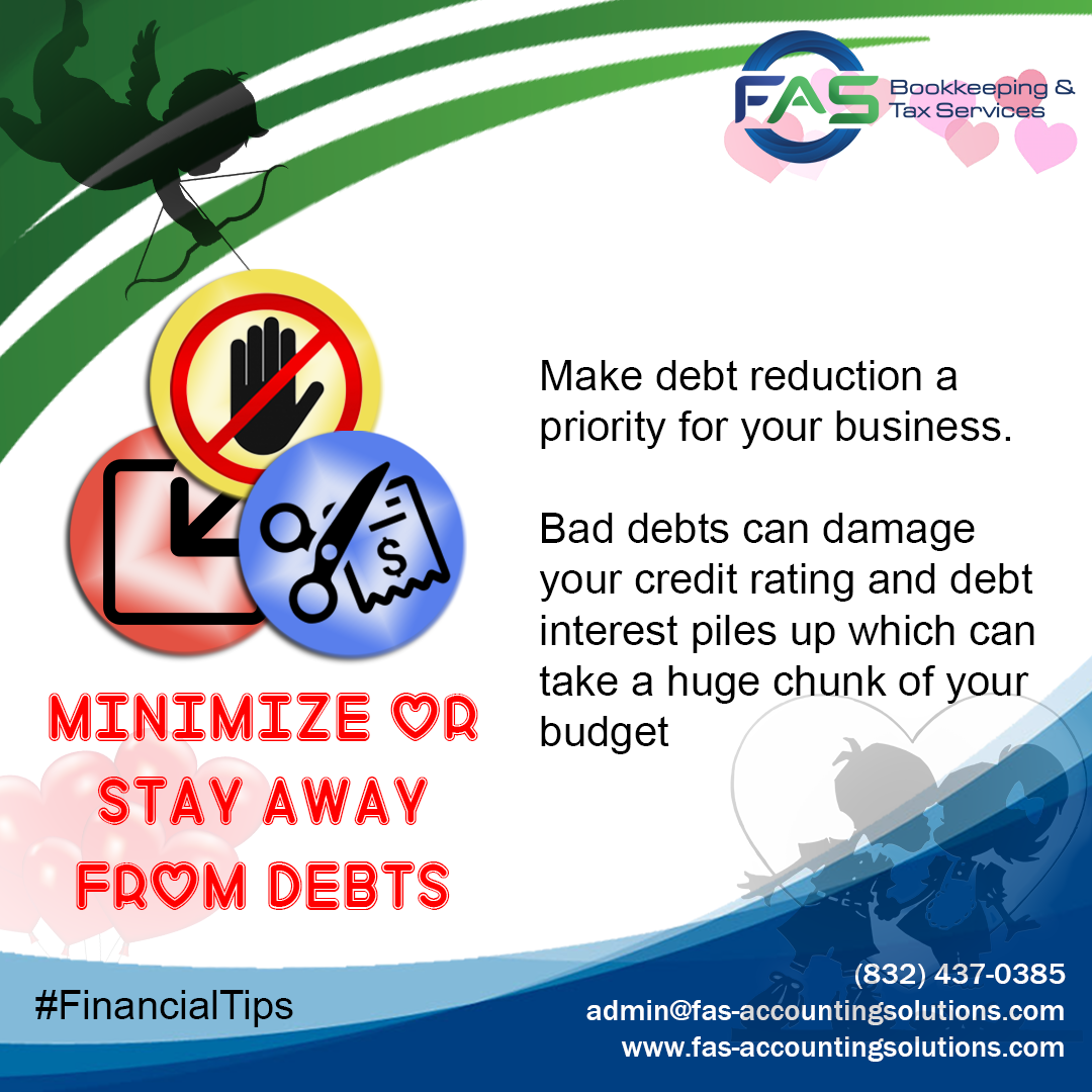 Minimize or Stay Away from Debts
