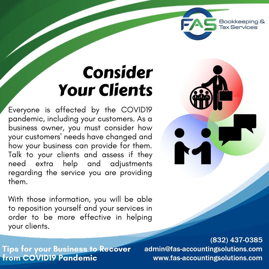 Consider Your Clients - Business Recovery Tips