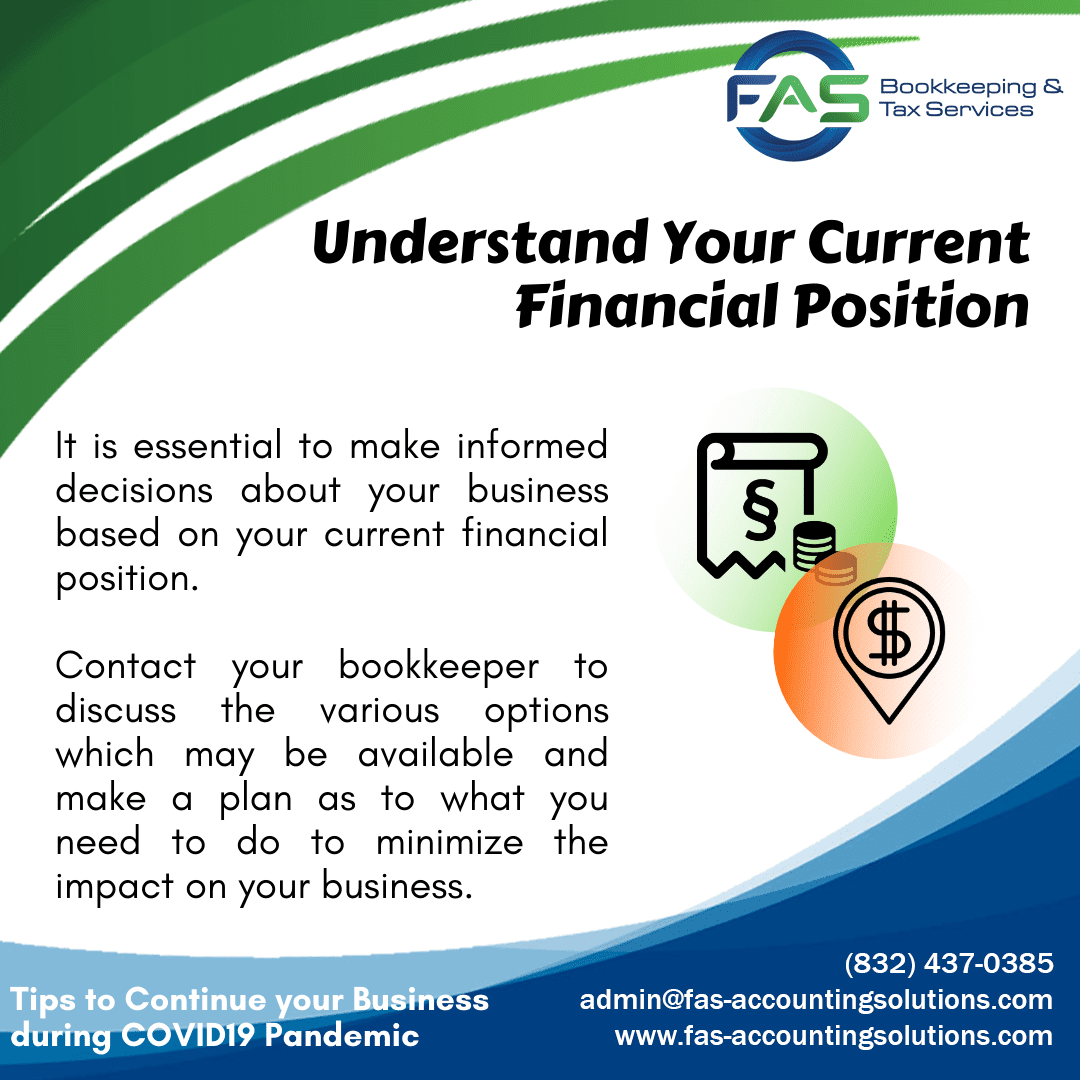 Understand Your Current Financial Position - Business Recovery Tips