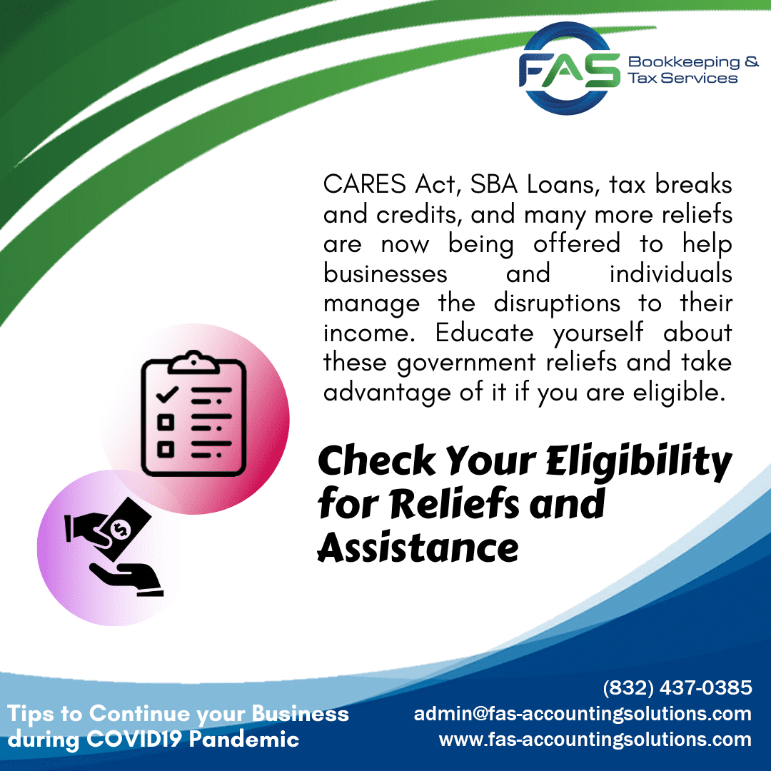 Check Your Eligibility for Reliefs and Assistance - Business Recovery Tips