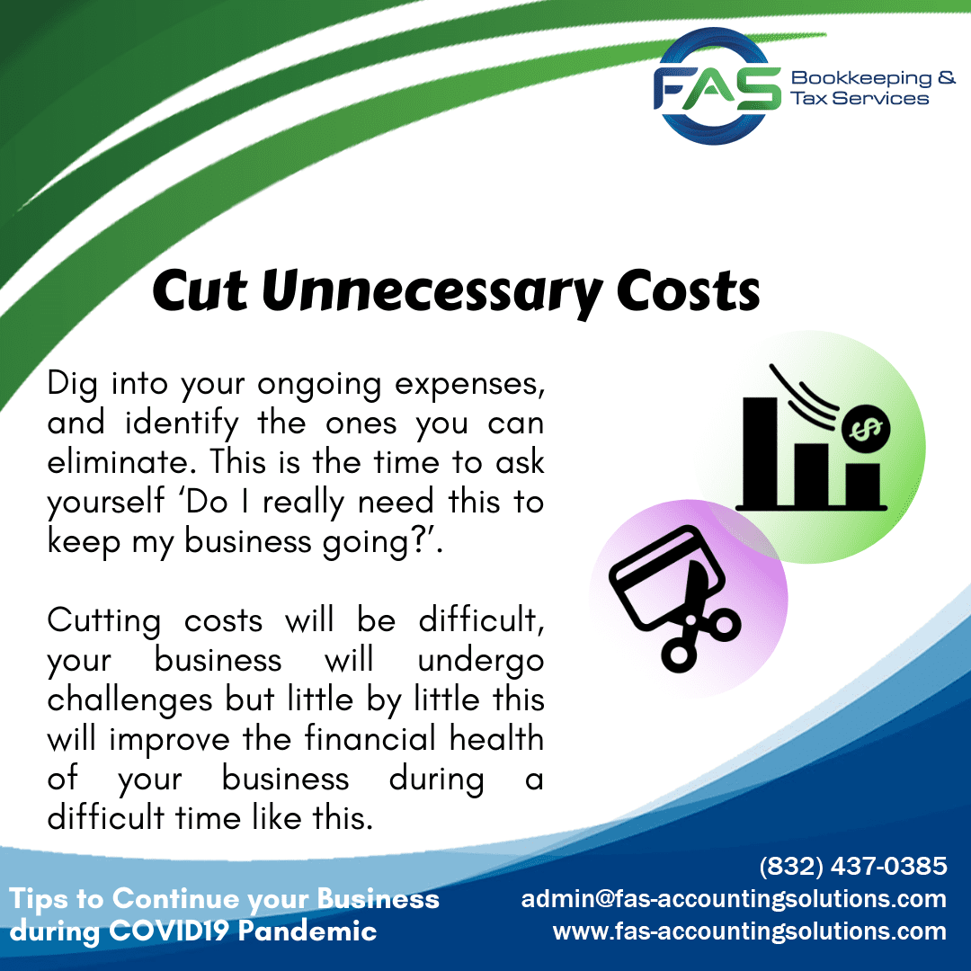 Cut Unnecessary Costs - Business Recovery Tips