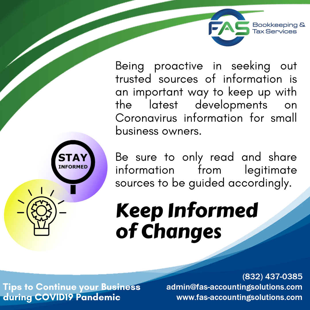 Keep Informed of Changes - Business Recovery Tips