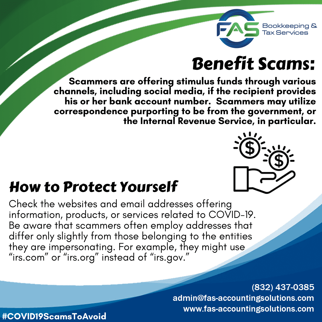 Benefit Scam - COVID19 Scams to Avoid