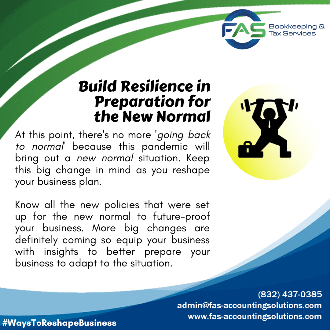 Build Resilience in Preparation for the New Normal - Ways To Reshape Business