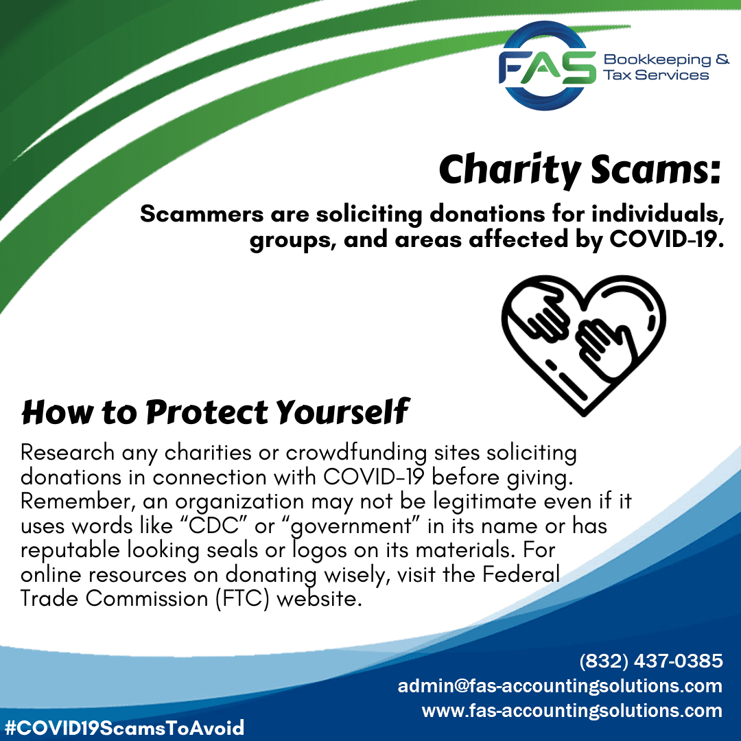 Charity Scam - COVID19 Scams to Avoid