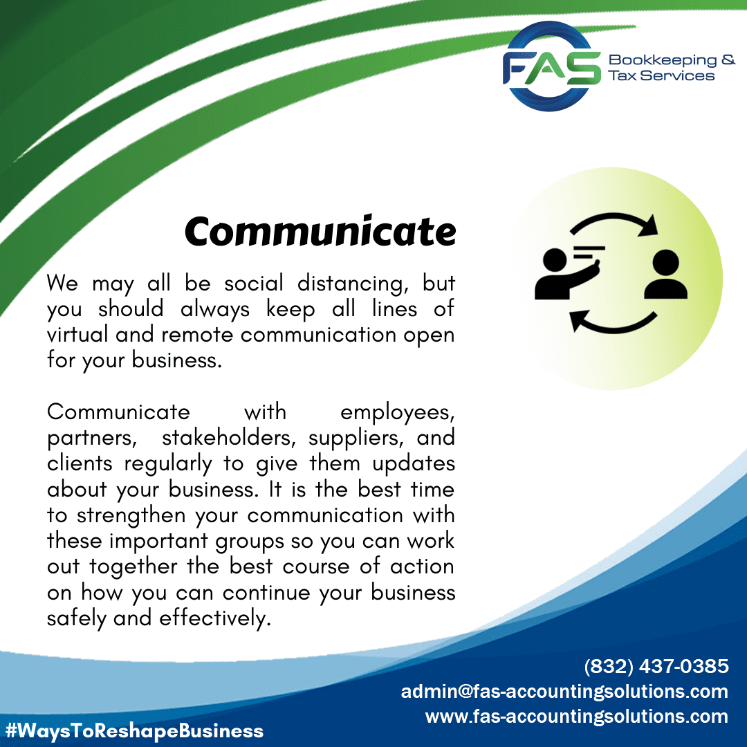 Communicate - Ways To Reshape Business