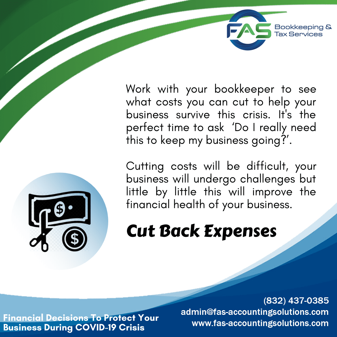 Cut Back Expenses - Financial Decisions To Protect Business