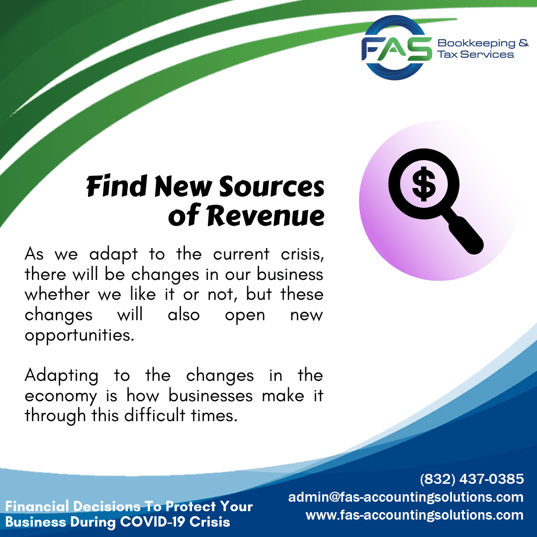 Find New Sources of Revenue - Financial Decisions To Protect Business