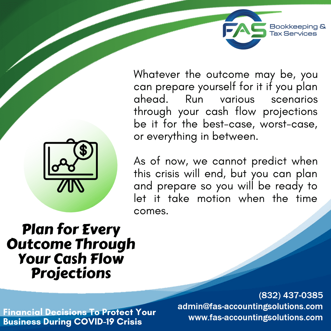 Plan for Every Outcome Through Your Cash Flow Projections - Financial Decisions To Protect Business