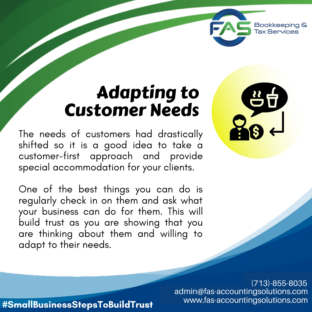 Adapting to Needs - #WaysToBuildCustomerTrust