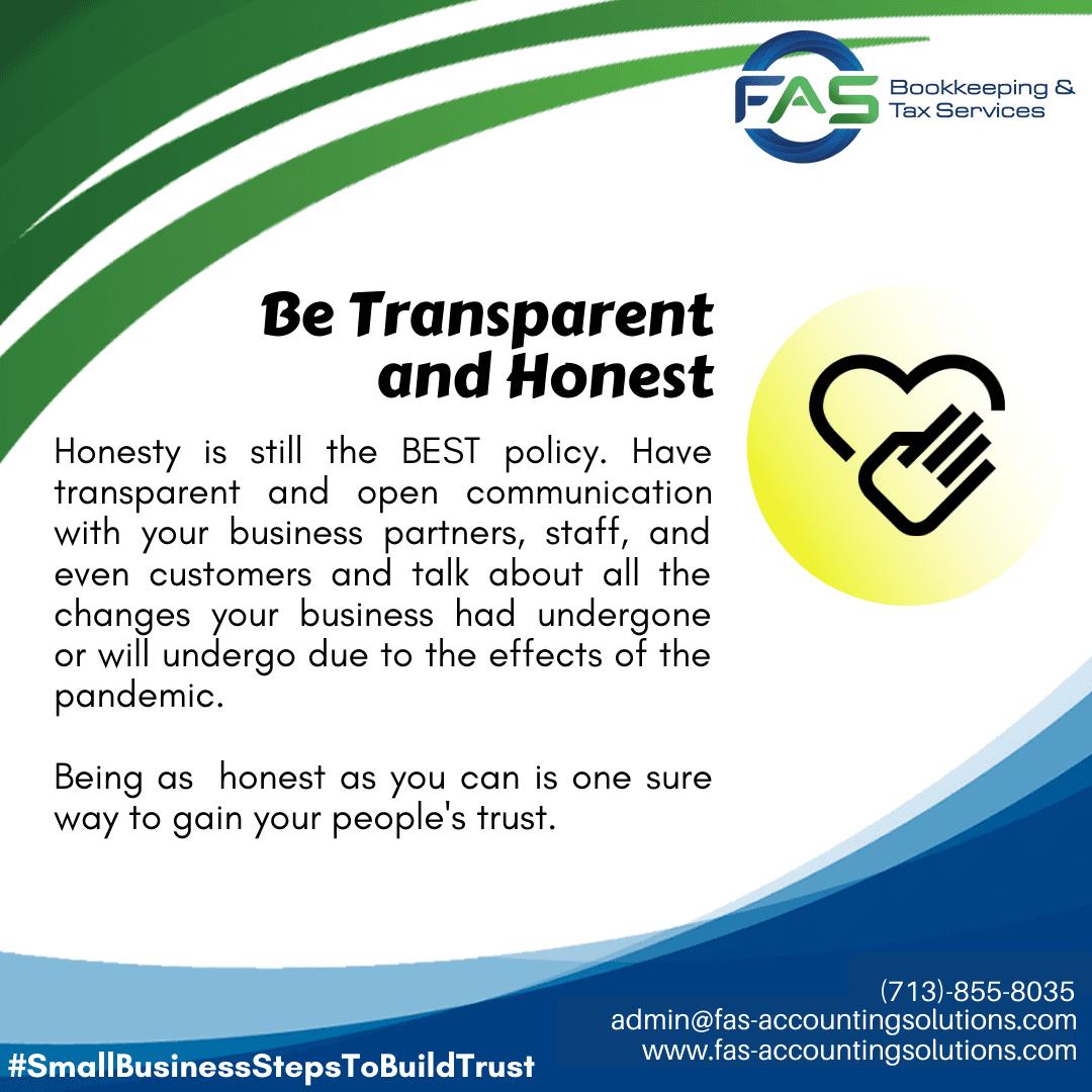 Be Transparent - #WaysToBuildCustomerTrust