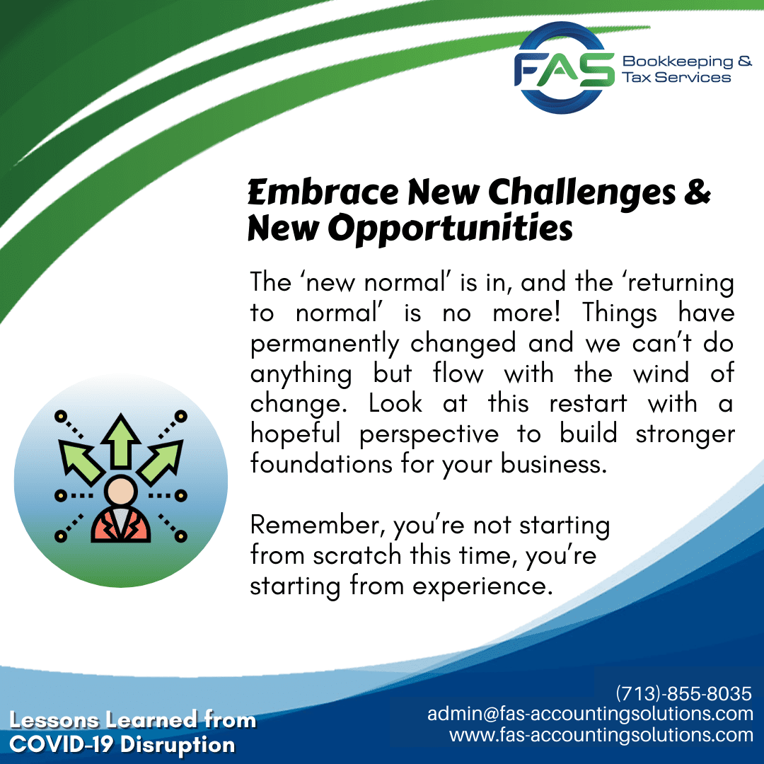 Embrace New Challenges and Opportunities - #LessonsLearnedFromCOVID19