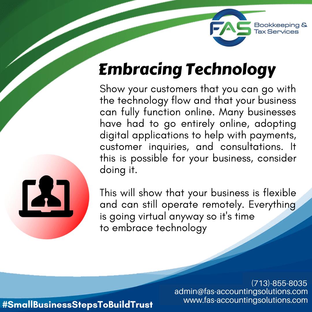 Embracing Technology - #WaysToBuildCustomerTrust