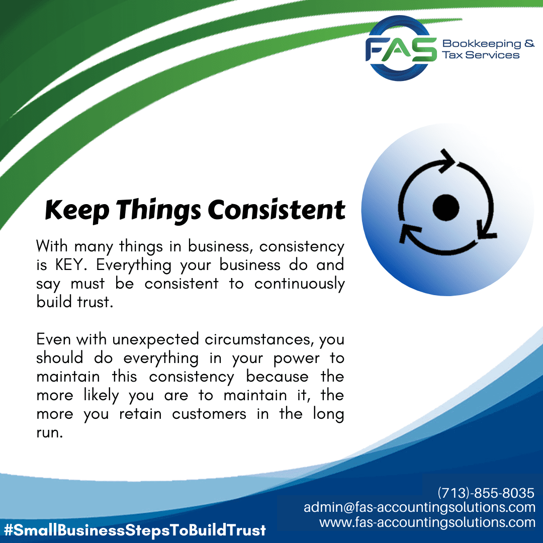 Keep Things Consistent - #WaysToBuildCustomerTrust