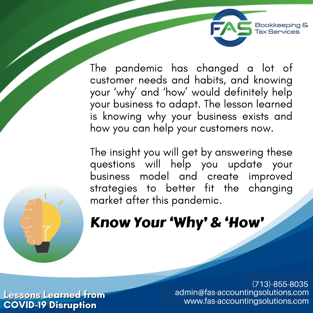 Know Your Why and How - #LessonsLearnedFromCOVID19