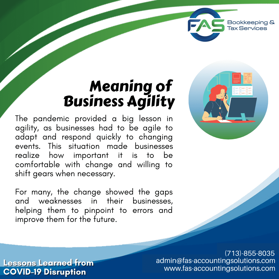 Meaning of Business Agility - #LessonsLearnedFromCOVID19