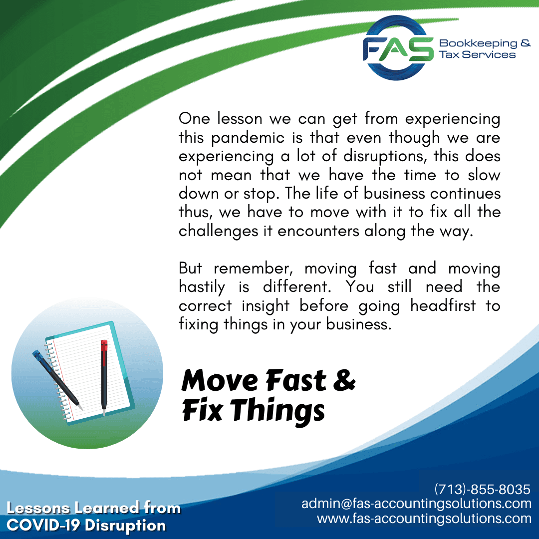 Move Fast & Fix Things - #LessonsLearnedFromCOVID19