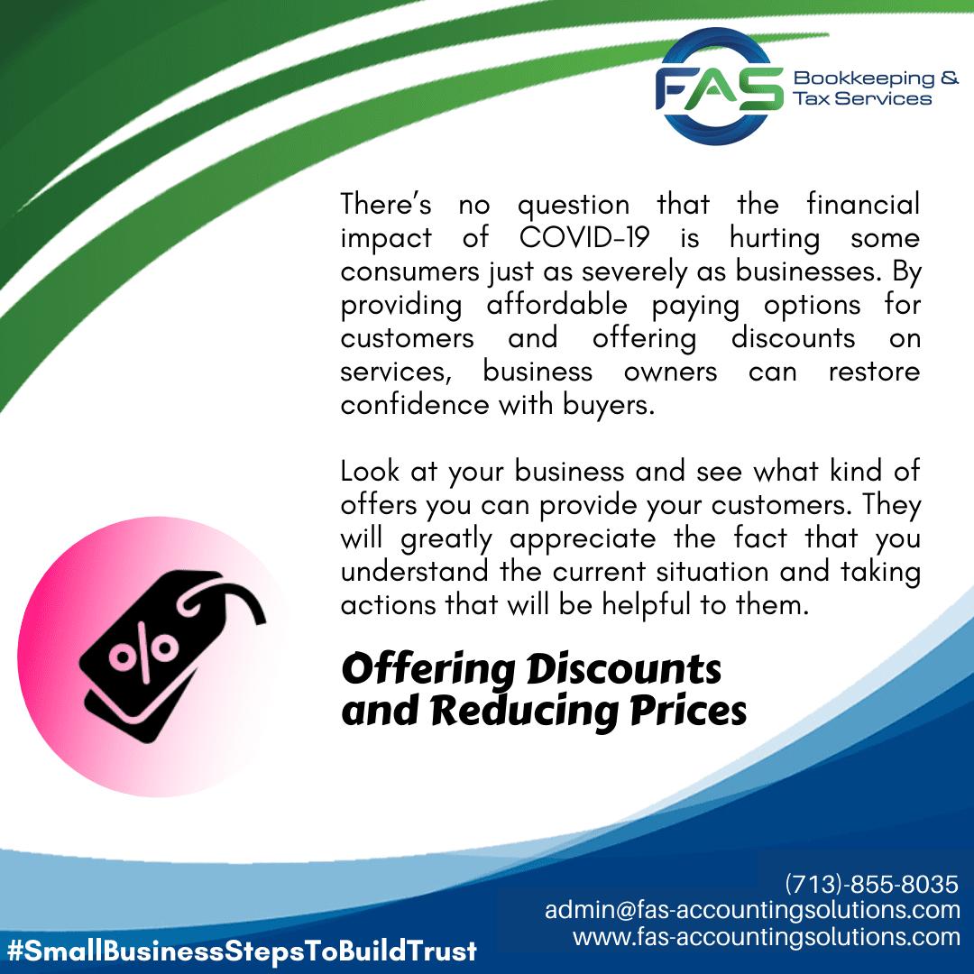 Offer Discounts - #WaysToBuildCustomerTrust
