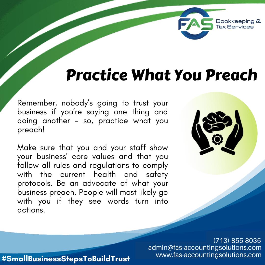 Practice What You Preach - #WaysToBuildCustomerTrust
